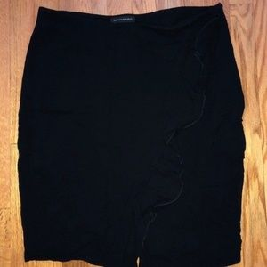 Banana Republic Ruched Navy Blue Tulip Skirt 10P